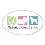 Peace, Love, Saints Sticker (Oval 50 pk)