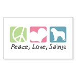Peace, Love, Saints Sticker (Rectangle 10 pk)
