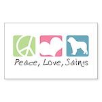 Peace, Love, Saints Sticker (Rectangle 50 pk)