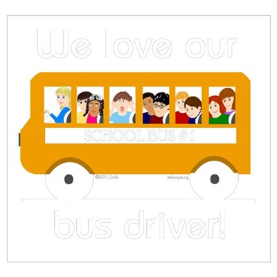 We Love Our Bus Driver Canvas Art