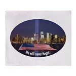 9-11 We Will Never Forget Throw Blanket