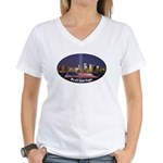 9-11 We Will Never Forget Women's V-Neck T-Shirt