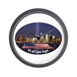 9-11 We Will Never Forget Wall Clock