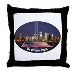 9-11 We Will Never Forget Throw Pillow