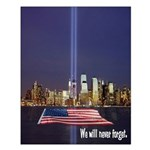 9-11 We Will Never Forget Small Poster