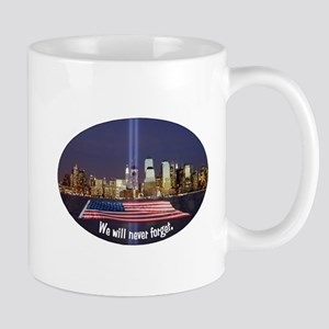 9-11 We Will Never Forget Mug