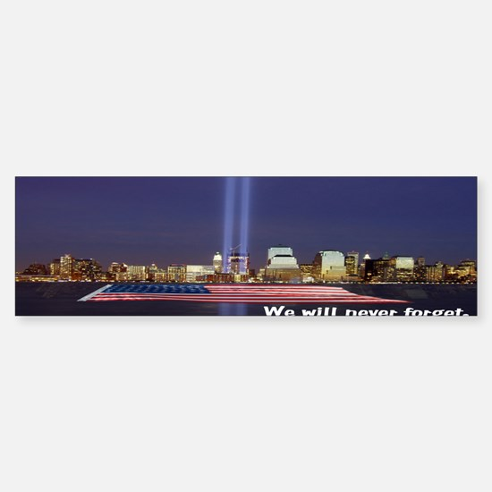 9-11 We Will Never Forget Sticker (Bumper)