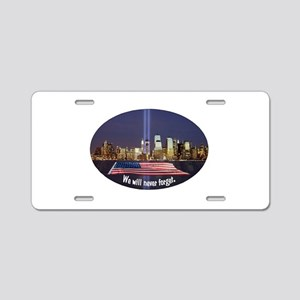 9-11 We Will Never Forget Aluminum License Plate