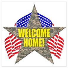 USA Troops Welcome Home Framed Print