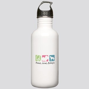 Peace, Love, Malinois Stainless Water Bottle 1.0L