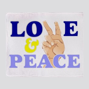 Love and peace 3 Throw Blanket