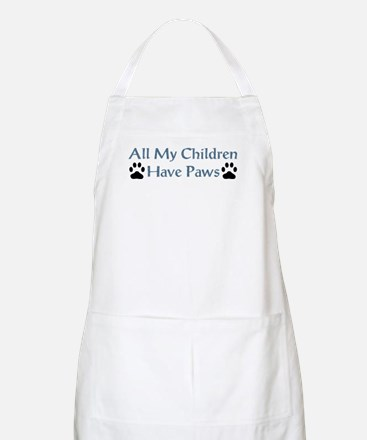 All My Children Have Paws 4 Apron