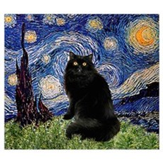 Starry Night /Persian (bl) Poster