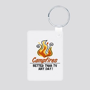 Camping Aluminum Photo Keychain