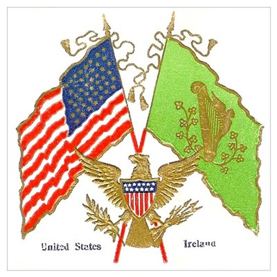Irish American Flags Canvas Art