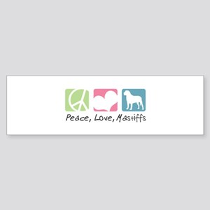 Peace, Love, Mastiffs Sticker (Bumper)