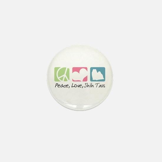 Peace, Love, Shih Tzus Mini Button