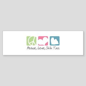 Peace, Love, Shih Tzus Sticker (Bumper)
