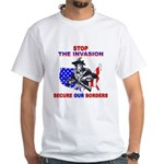 Stop The Invasion White T-Shirt