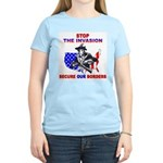 Stop The Invasion Women's Pink T-Shirt