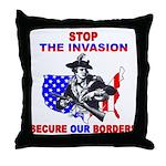 Stop The Invasion  Throw Pillow