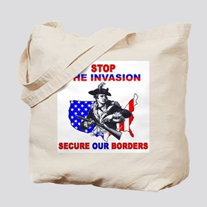 Stop The Invasion  Tote Bag