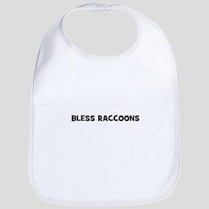 Bless Raccoons Bib