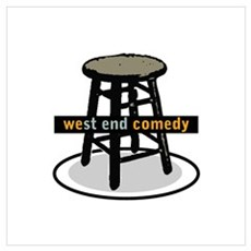 West End Comedy logo w/o webs Framed Print