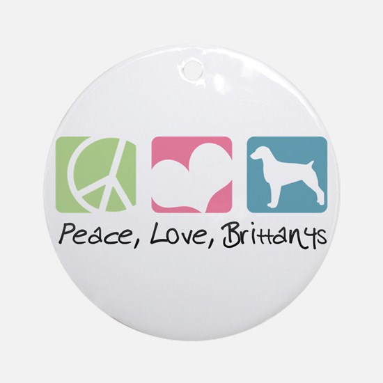 Peace, Love, Brittanys Ornament (Round)