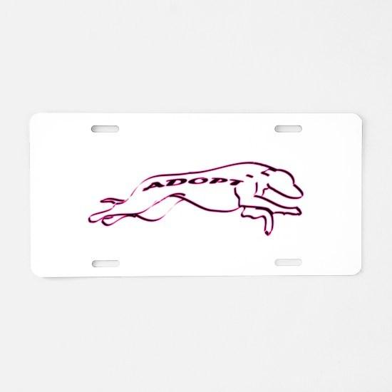 Adopt a Greyhound (Neon) Aluminum License Plate