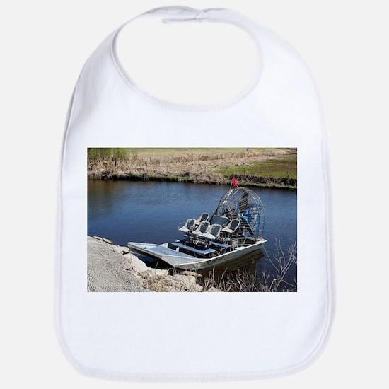 Florida swamp airboat 2 Baby Bib