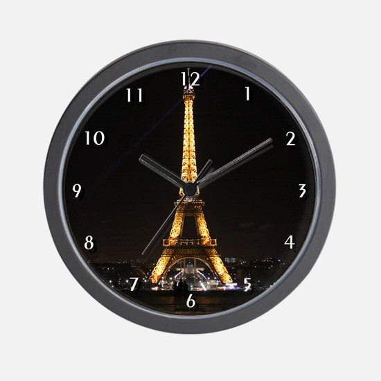 Eiffel Tower Paris Wall Clock