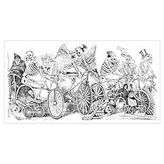 Calaveras en Bicicleta Poster