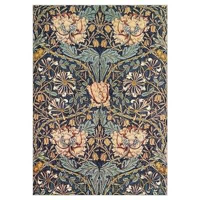 Art Nouveau Blue Vines Poster