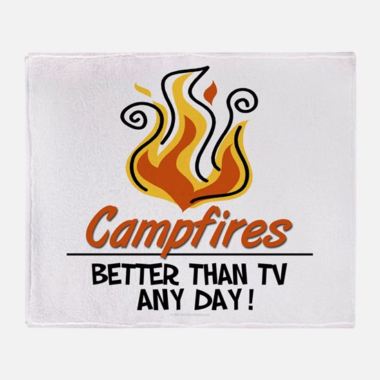 Camping Throw Blanket