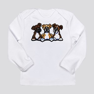 Three Boxer Lover Long Sleeve Infant T-Shirt