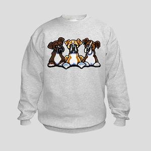 Three Boxer Lover Kids Sweatshirt