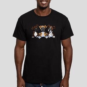 Three Boxer Lover Men's Fitted T-Shirt (dark)