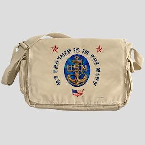 Navy Brother Messenger Bag