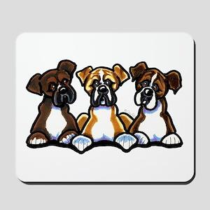 Three Boxer Lover Mousepad
