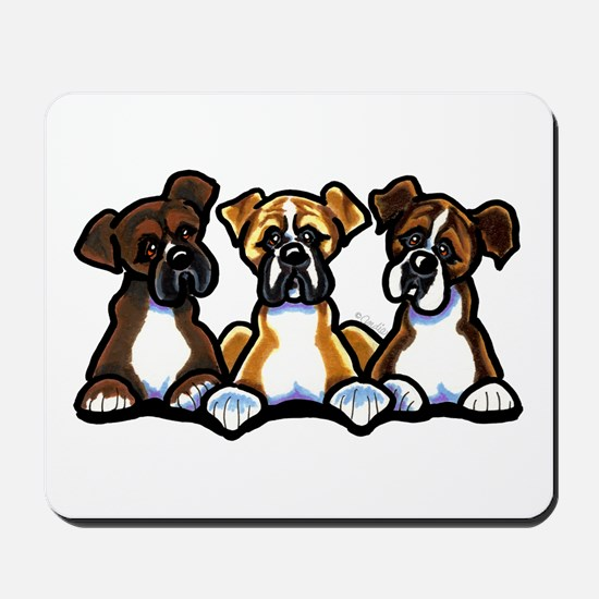 Three Boxer Lover Mousepad