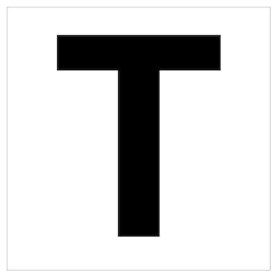 T Helvetica Alphabet Poster