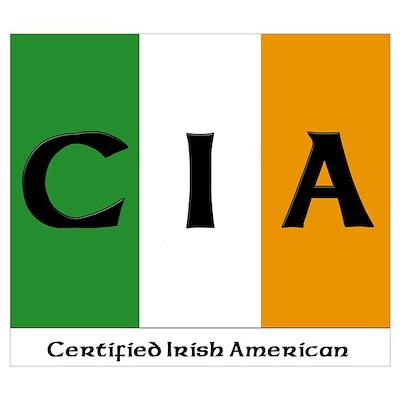 Certified Irish American Poster