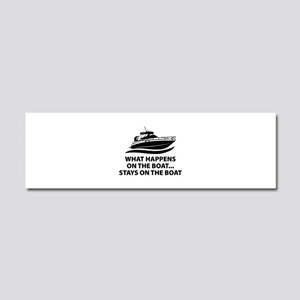 What Happens On The Boat Car Magnet 10 x 3