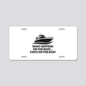 What Happens On The Boat Aluminum License Plate