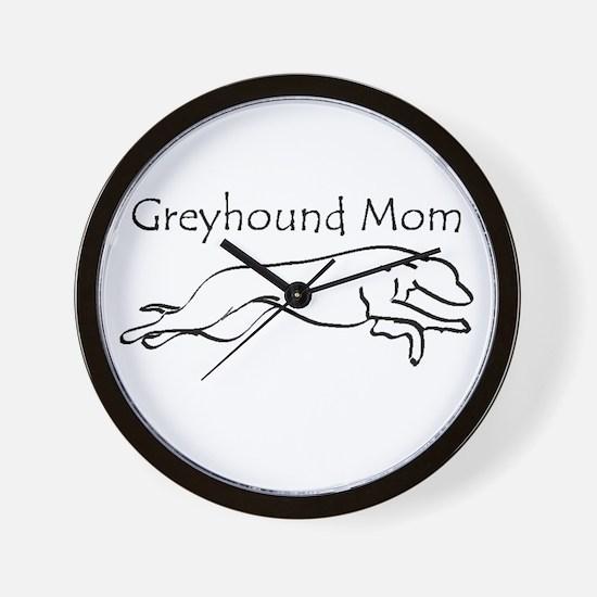 Greyhound Mom Wall Clock