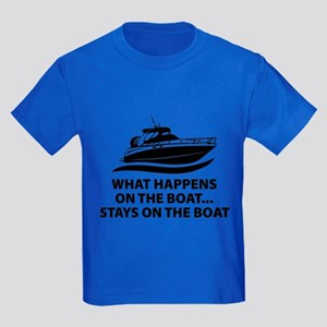 What Happens On The Boat Kids Dark T-Shirt