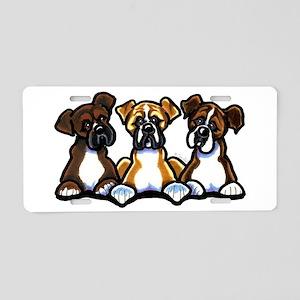 Three Boxer Lover Aluminum License Plate