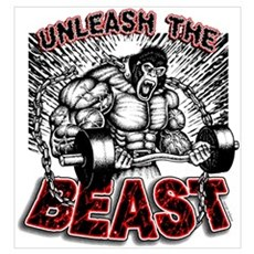 Unleash The Beast Framed Print