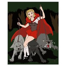 Moonlight Fantasies Red Riding Hood Framed Print